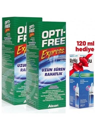 Opti – Free OptiFree 2'li Express Lens Solüsyonu 355 ml + ReNu Hediyeli Renksiz